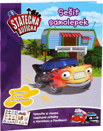 Samolepky kniha Statečná autíčka