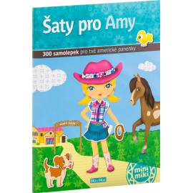 Šaty pro AMY - kniha samolepek