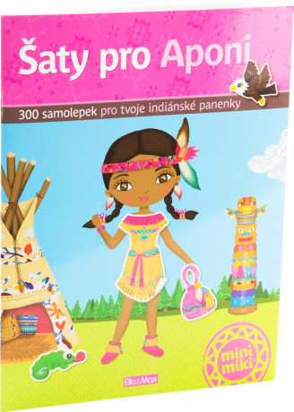 Aponi and her dresses - sticker book