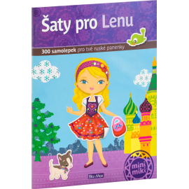 Šaty pro LENU - kniha samolepek
