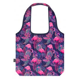 Skládací nákupní taška Plameňáci