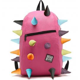 Školní batoh MadPax Spiketus Rex velký, s předním zipem, růžový multi