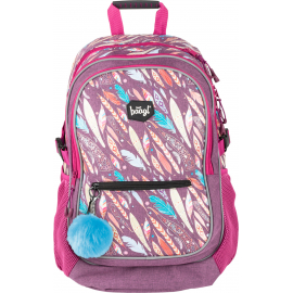 School backpack Feathers