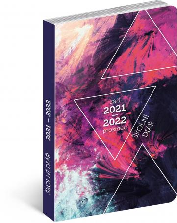 Školní diář Abstrakt (září 2021 – prosinec 2022), 9,8 × 14,5 cm