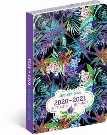 Školní diář Džungle SK (september 2020 – december 2021), 9,8 × 14,5 cm