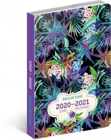 Školní diář Džungle (září 2020 – prosinec 2021), 9,8 × 14,5 cm