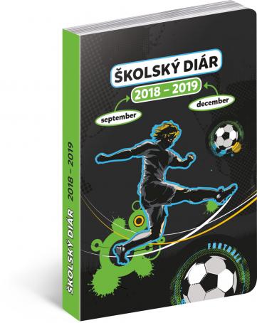 Školní diář Fotbal SK (september 2018 – december 2019), 9,8 x 14,5 cm