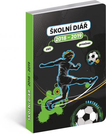 Školní diář Fotbal (září 2018 – prosinec 2019), 9,8 x 14,5 cm