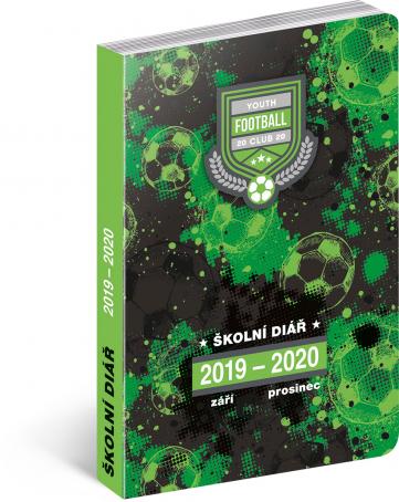 Školní diář Fotbal (září 2019 – prosinec 2020), 9,8 × 14,5 cm