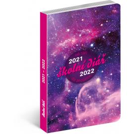 Školní diář Galaxy (září 2021 – prosinec 2022), 9,8 × 14,5 cm