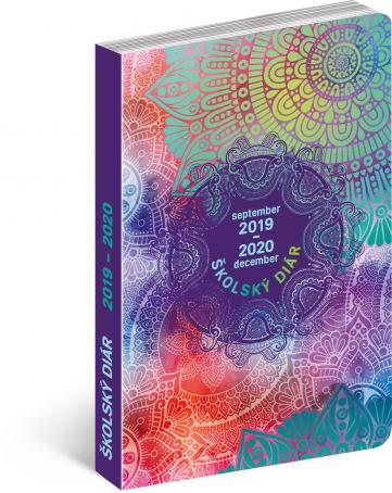 Školní diář Mandala SK (september 2019 – december 2020), 9,8 × 14,5 cm