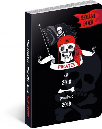 Školní diář Piráti (září 2018 – prosinec 2019), 9,8 x 14,5 cm