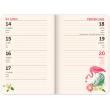 School diary Flamingos (September 2020 - December 2021), 9,8 × 14,5 cm