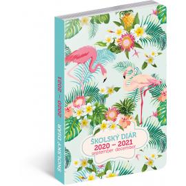 Školní diář Plameniaky SK (september 2020 – december 2021), 9,8 × 14,5 cm