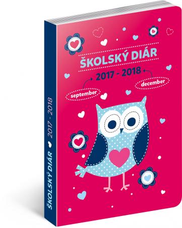 Školní diář Sovy SK (september 2017 – december 2018), 9,8 × 14,5 cm