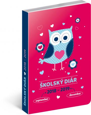 Školní diář Sovy SK (september 2018 – december 2019), 9,8 x 14,5 cm