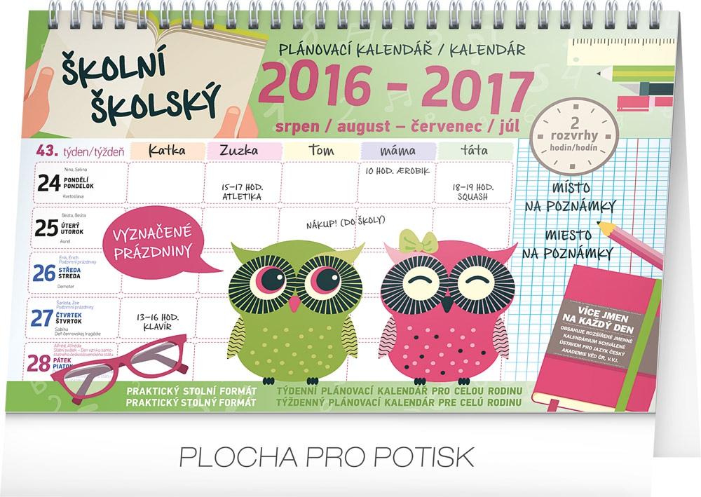 5aeec2ede8 Školní plánovací kalendář s háčkem 2017