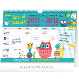 Školní plánovací kalendář s háčkem 2018, 30 x 21 cm