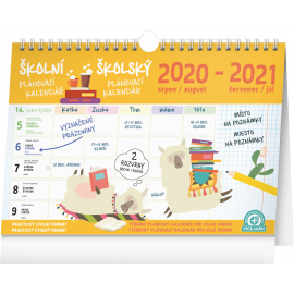 Weekly school planner with hook 2021, 30 ×  21 cm