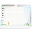 Školní plánovací kalendář s háčkem 2021, 30 × 21 cm