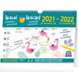 Školní plánovací kalendář s háčkem 2022, 30 × 21 cm