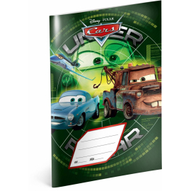 Exercise book Cars – Green, A5, 40 sheets, lined