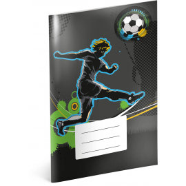 Exercise book Fotball, A4, 40 sheets, unlined