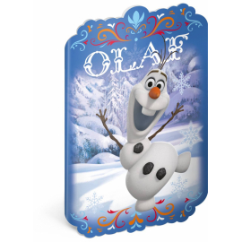 Exercise book Frozen – Olaf,  A4 with cut-out, 40 sheets, unlined