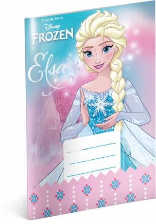 Školní sešit Frozen  – Ledové království Star, A5, 20 listů, nelinkovaný