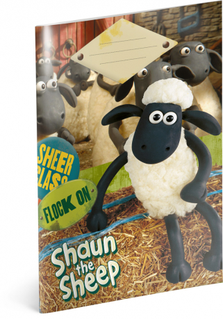 Školní sešit Ovečka Shaun, A5, 20 listů, linkovaný