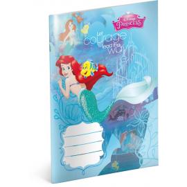 Školní sešit Princezny – Ariel, A5, 20 listů, linkovaný