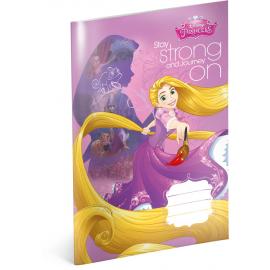 Školní sešit Princezny – Rapunzel, A4, 20 listů, linkovaný