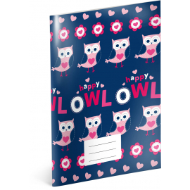 Exercise book Little Owls, A4, 40 sheets, unlined