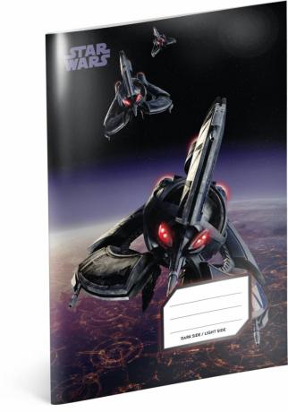 Školní sešit Star Wars – Tri-Fighter, A5, 40 listů, linkovaný