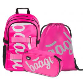 Školní set Skate Pink