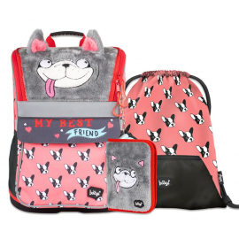 BAAGL SET 3 Zippy Doggie: bag, pencil case, gym sack