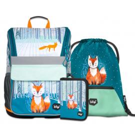 BAAGL SET 3 Foxie: school bag, school pencil case, gym sack