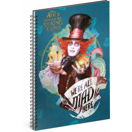 Spiral notebook Alice Through the Looking Glass – Tarrant, lined, A5
