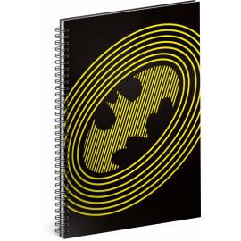 Spirálový blok Batman – Circles, linkovaný, A5