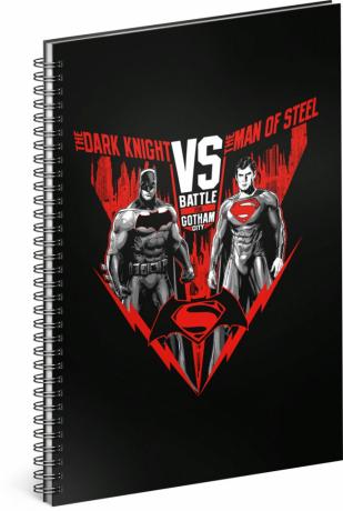 Spirálový blok Batman vs Superman, linkovaný , A4