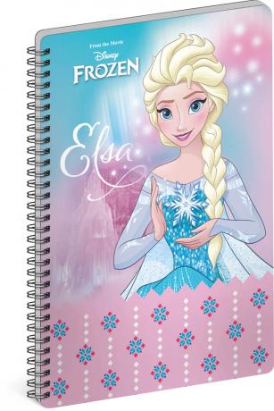 Spirálový blok Frozen – Ledové království Elsa, A4, linkovaný