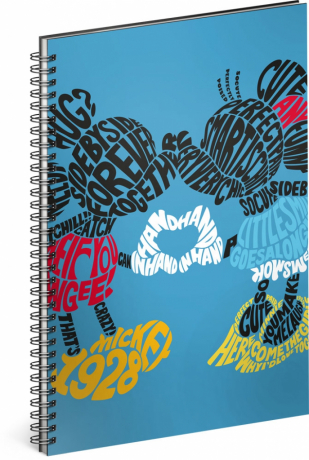 Spiral notebook Mickey – Kiss, lined, A4