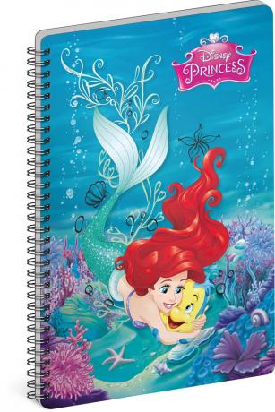 Spirálový blok Princezny – Flounder, A4, nelinkovaný