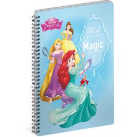 Spirálový blok Princezny – Magic, A4, linkovaný