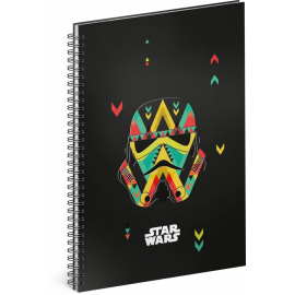 Spiral notebook Star Wars – Black, lined, A5