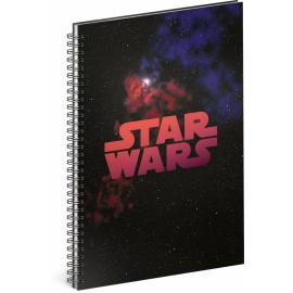 Spirálový blok Star Wars – Galaxy, nelinkovaný, A4