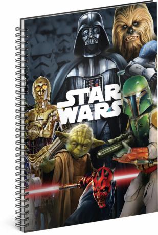 Spirálový blok Star Wars – Mix, linkovaný, A4
