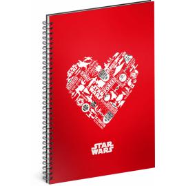 Spirálový blok Star Wars – Red, nelinkovaný, A5