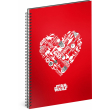 Spiral notebook Star Wars – Red, unlined, A5