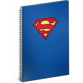 Spiral notebook Superman – Blue, lined, A4